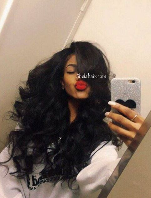 Chic Brazilian Wavy Hair Of 22inches Middle Parting Body Wa