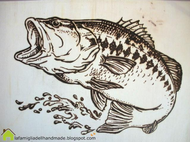 graphic relating to Free Printable Pyrography Patterns identify woodburning - fish routine - Composing Coach