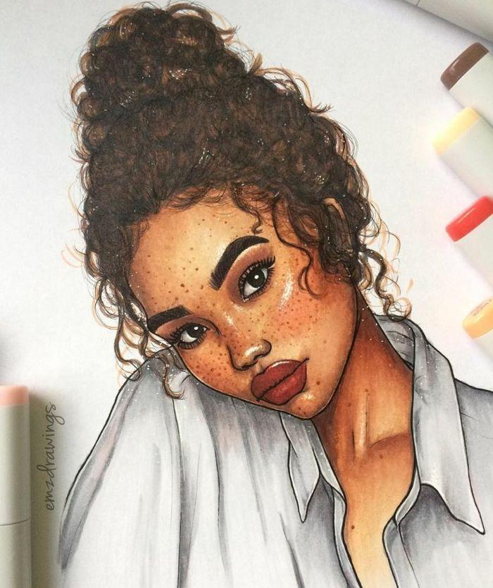 â–· 1001 + imagens para desenho de meninas - ideias para desenvolver sua criatividade