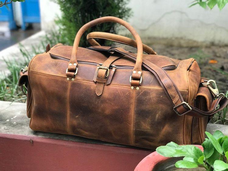 78575ff8aac3 Zakara Genuine Hunter Classic Leather Weekend Bag