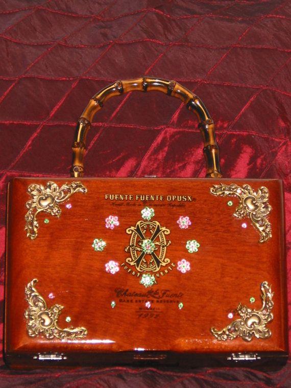 Fuente Opus X Cigar Box Purse Pink   Green Flor by TerresTrifles 24ed984d2823e