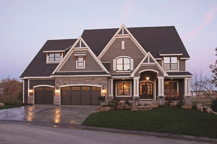 Image result for best house color to go with dark brown roof - jeux de construction de maison en d
