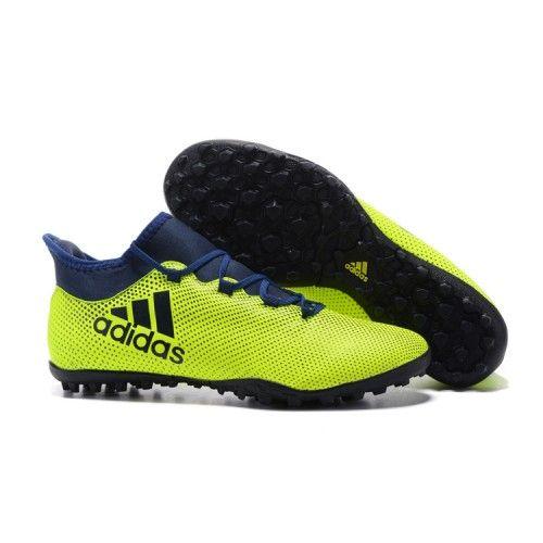 new styles 41afa de5c7 2017 Adidas X 17.3 TF Botas De Futbol Fluo Verde Azul Oscuro