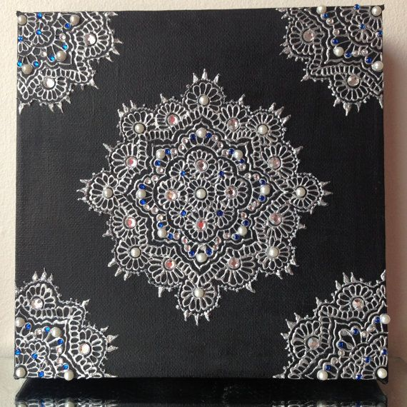 Hand Painted Henna Canvas