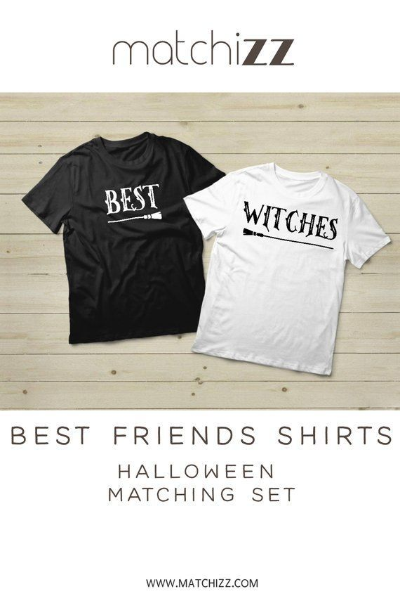 d18611e0 Best Friend Gift Bset Witches Shirts Halloween Besties Gift Matching Shirts  #halloween #bestwitches #