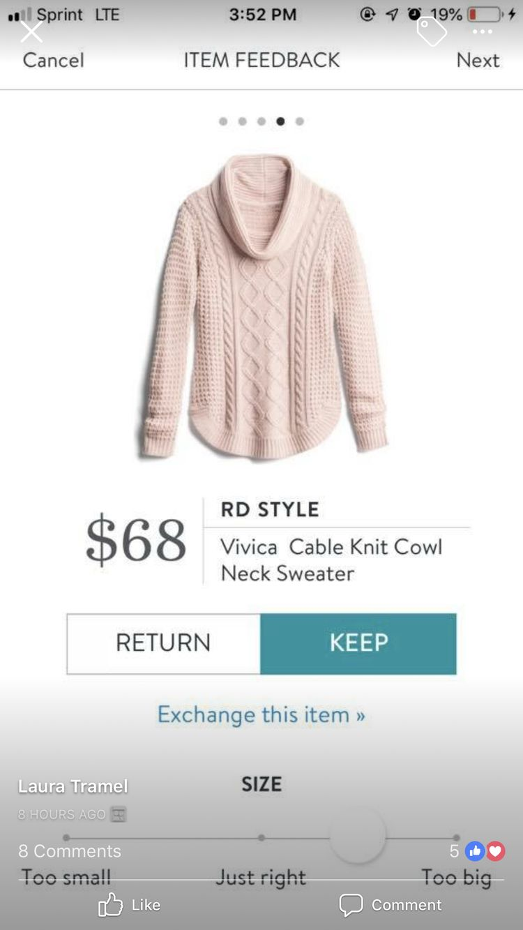 Looks so cozy, and i love a good cowl neck