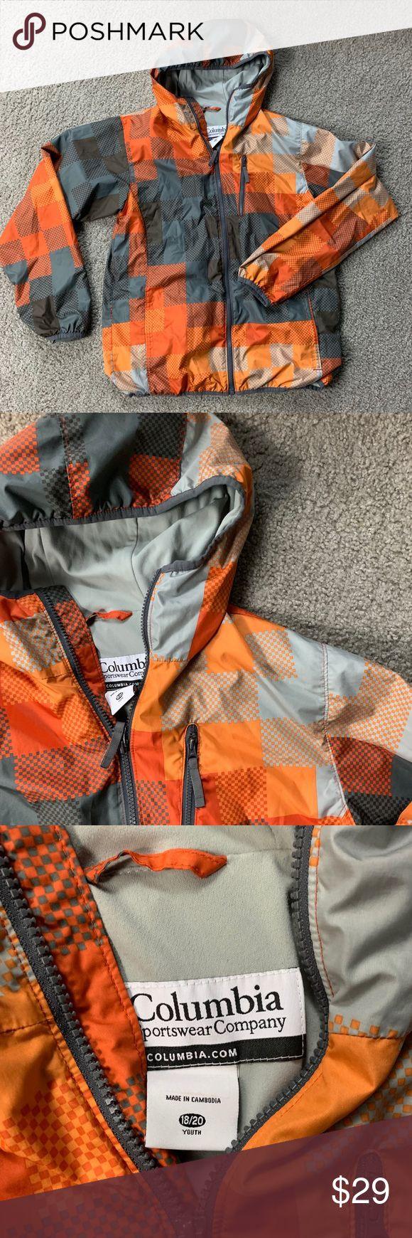 1b74a0d5710e0 Columbia Boy Jacket 18 20 Orange Youth Kids Y Columbia Boy Jacket 18 20  Orange Youth Kids Y Brand: Columbia Type: Basic Jacket Style: Light Jacket  Material: ...