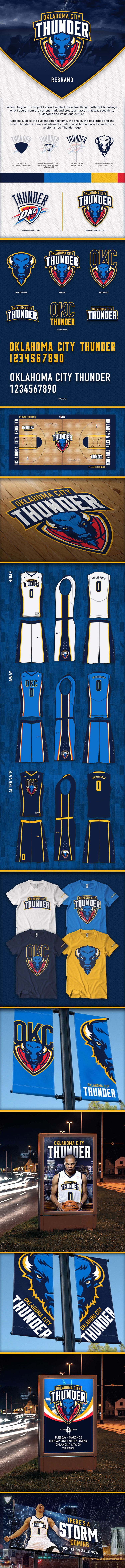 6140aed3a Oklahoma City Thunder Rebrand on Behance