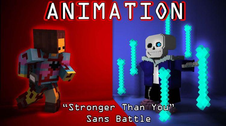Sans Battle - Undertale - Stronger Than You [Minecraft Rema
