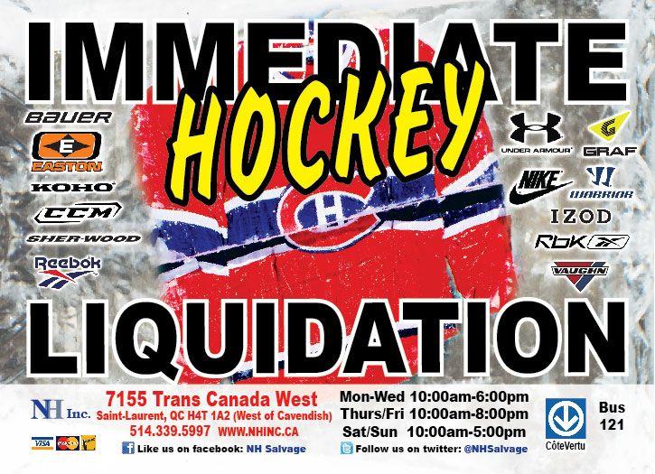 Nous Venons De Recevoir Plus 15 MILLION Dollars Darticles Hockey Dpchez Vous We Are Now Selling More Than Worth Of