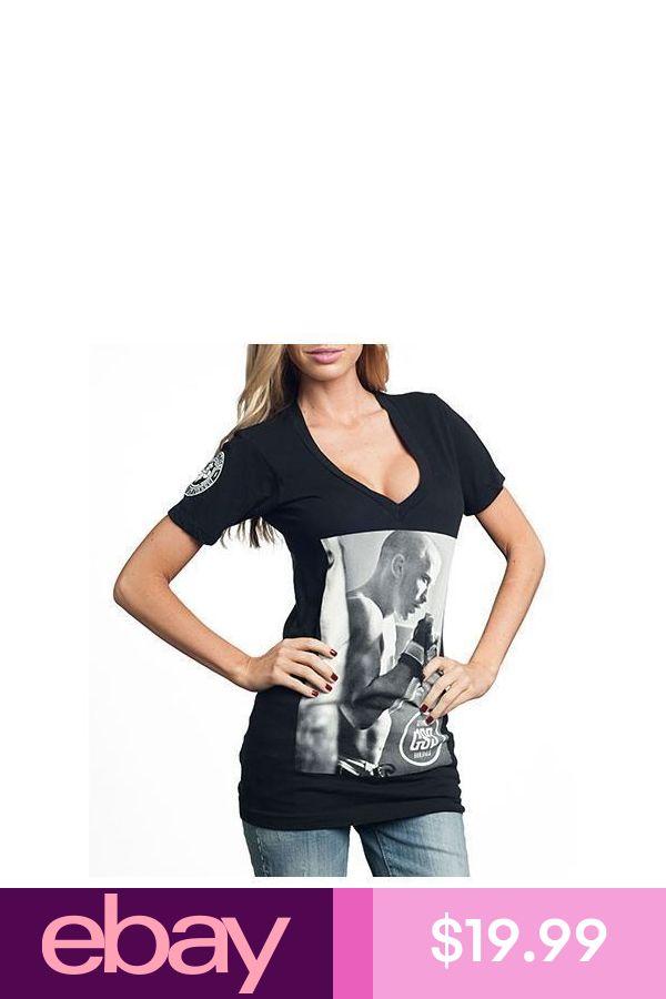 AFFLICTION Womens T-Shirt GEORGES ST PIERRE Fight Biker MMA UFC Sinful S-L $39