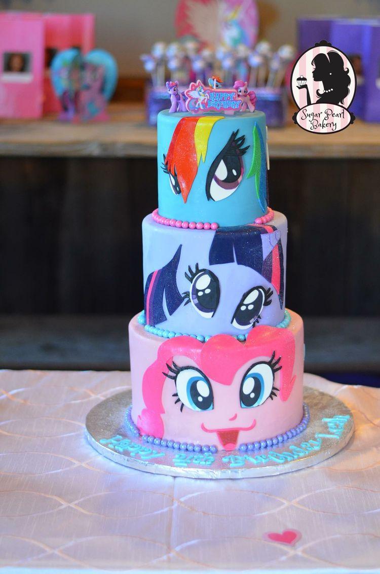 My Little Pony Faces Birthday Cake Original Design Rainb