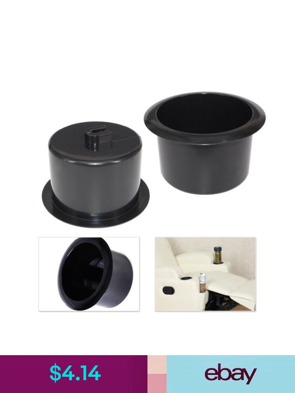 2pces plastic black insert cup holder for boat rv couch so rh pinosy com