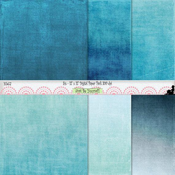 12 x 12 shabby fabric texture blues digital scrapbook bac