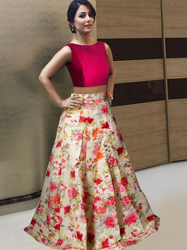 Avadh Bollywood Lehenga Hina Khan Indian Women Latest Festi