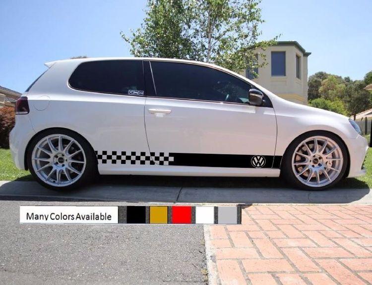 Sticker Vinyl Decal Stripe Kit for Toyota Yaris RS Vitz TS XP10 Exhaust Visor