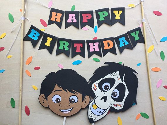 Coco Inspired Cake Toppers (Disney Pixar Movie / Cupcake To