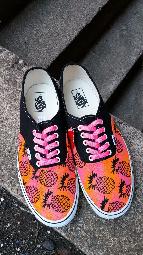 431fcf3866029 Items similar to Paint Toms or Vans. Pineapple Vans. Custo