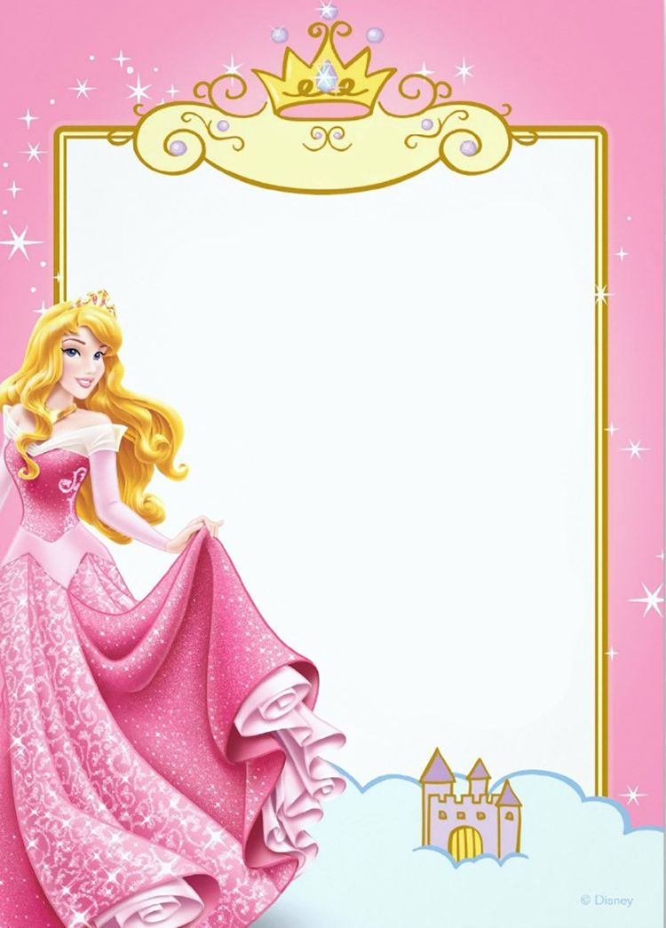 free printable princess invitation templates