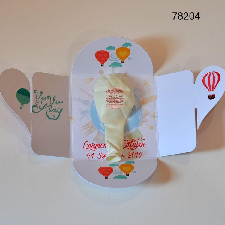 Invitatie Balon In Cutiuta Magneti Marturii Nunta Botez