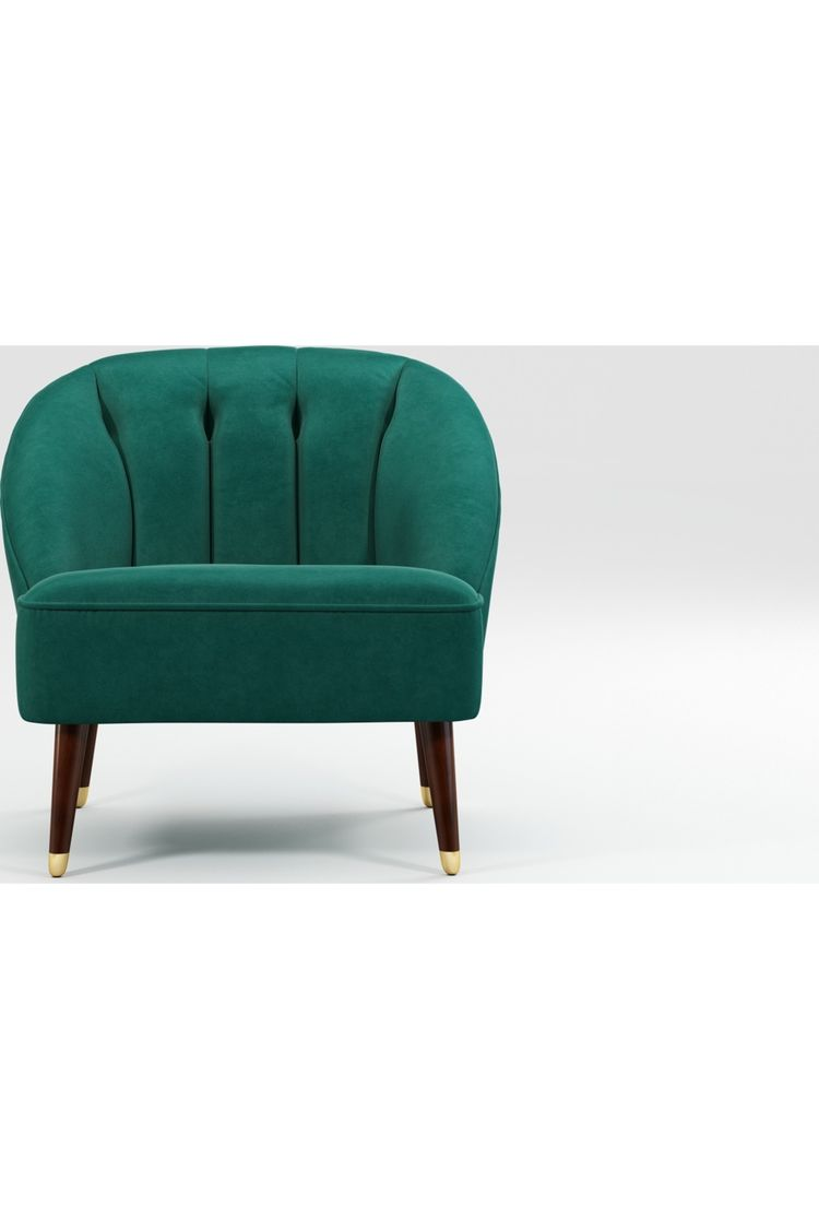 Stupendous Custom Made Margot Accent Chair Teal Cotton Velvet Made Caraccident5 Cool Chair Designs And Ideas Caraccident5Info
