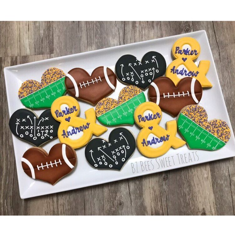 football themed bridal shower cookies for east carolina university lovebirds northcarolina
