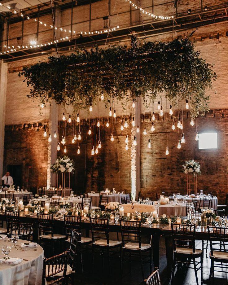 Rustic country barn wedding reception greenery decor #weddings #weddingideas #rusticwedding @janelle.elise.photo