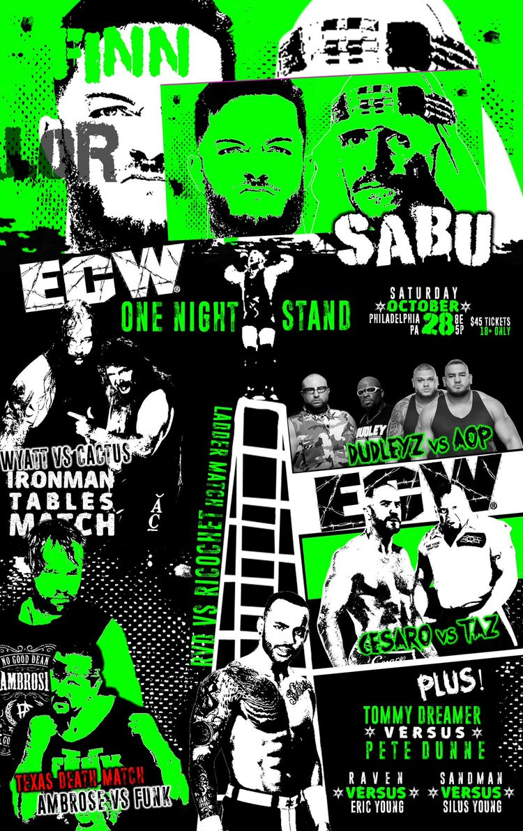 WWE Fantasy Match PPV Poster ECW One Night Stand