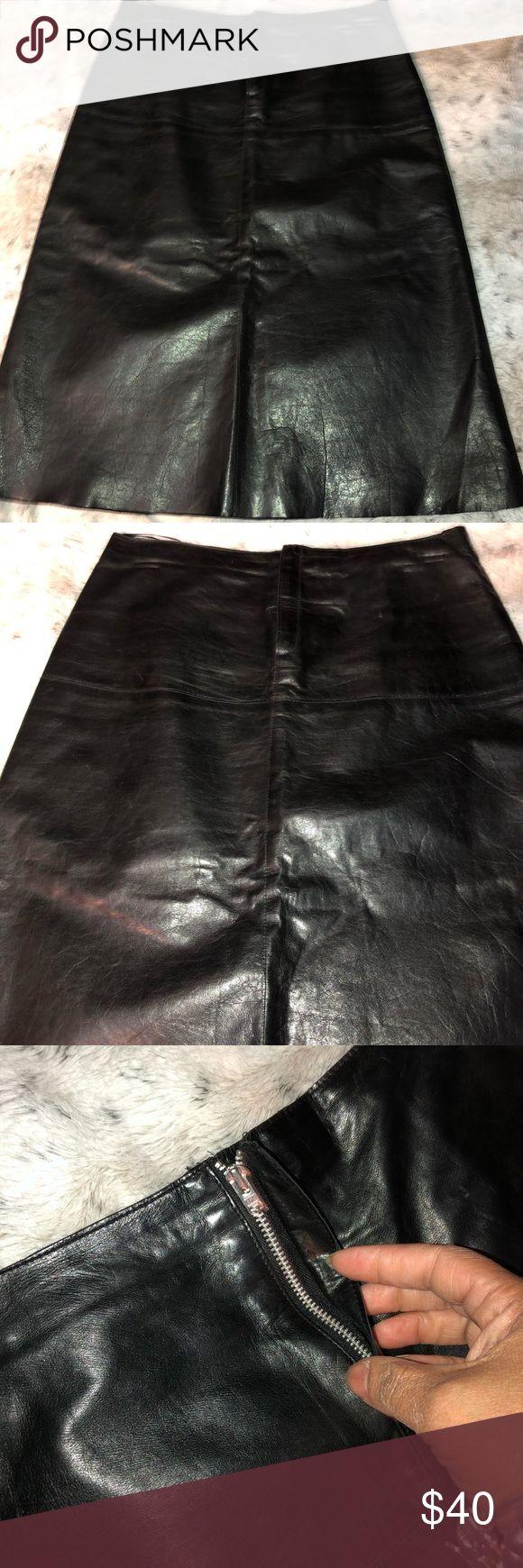 Banana republic leather skirt Black leather skirt  Size 0
