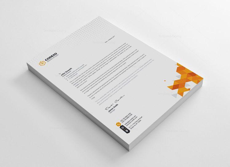 Berlin Professional Corporate Letterhead Template - Graphic Templates