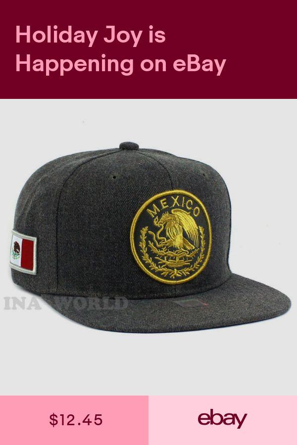 7e90cbd66f8 MEXICAN hat Snapback MEXICO Federal Logo Embroidered Baseball cap- Charcoal  Gray