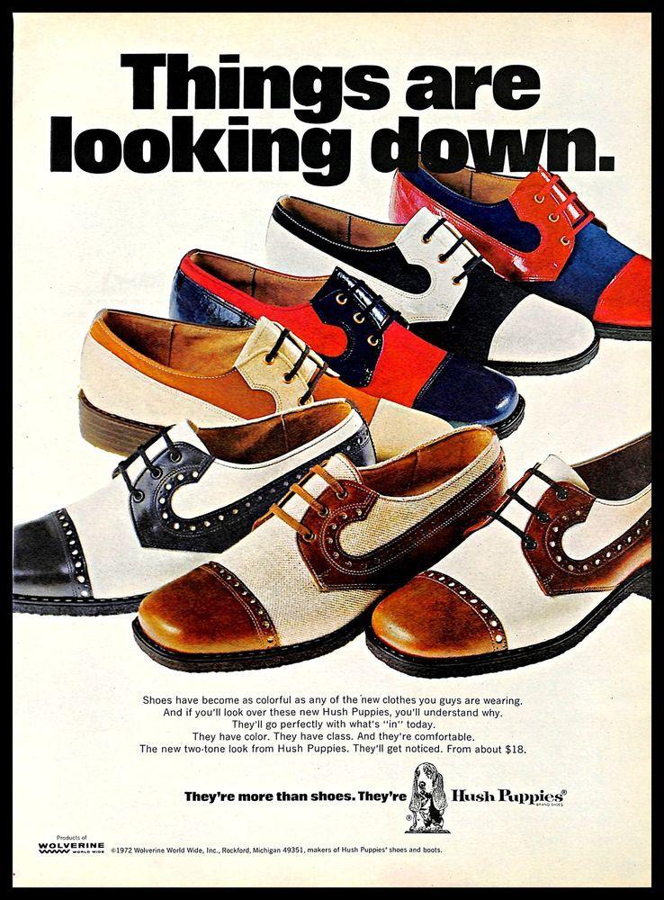 6b628c35997 1972 Wolverine World Wide #HushPuppies #Shoes #Vintage #PRI