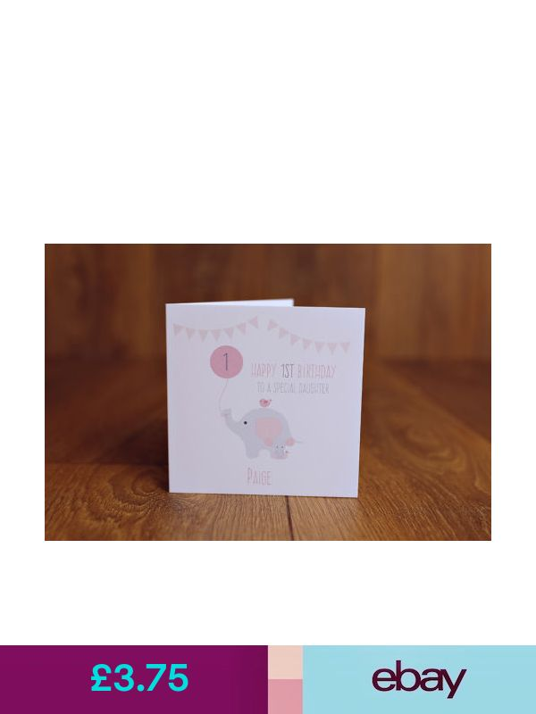 Personalised Handmade 1st First Birthday Card Daughter