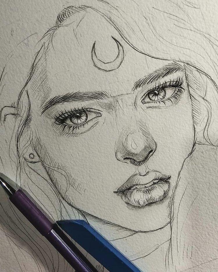 """@lookandwow no Instagram: """"😌Esboços de Lápis Incríveis😊Passar 👉 🤔Esboços ou Pinturas😍 (1-6) ☺ ⚫ ⚫ Artista Por: @raiiiarts (O que vocês pensam) 💭 ⚫ ⚫ Ei, quero ser…"""""""