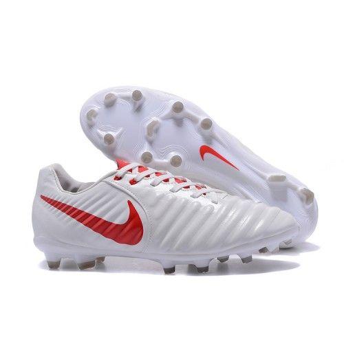 finest selection ccb04 4e5a1 2017 Nike Tiempo Legend VII FG Botas De Futbol Blanco Rojo