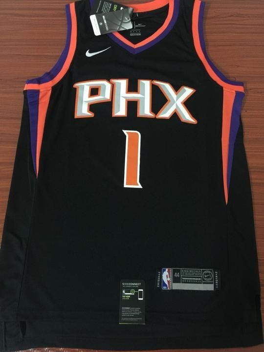 Men 1 Devin Booker Jersey Black Phoenix Suns Jersey Fanatics Swingman d63fc8e27