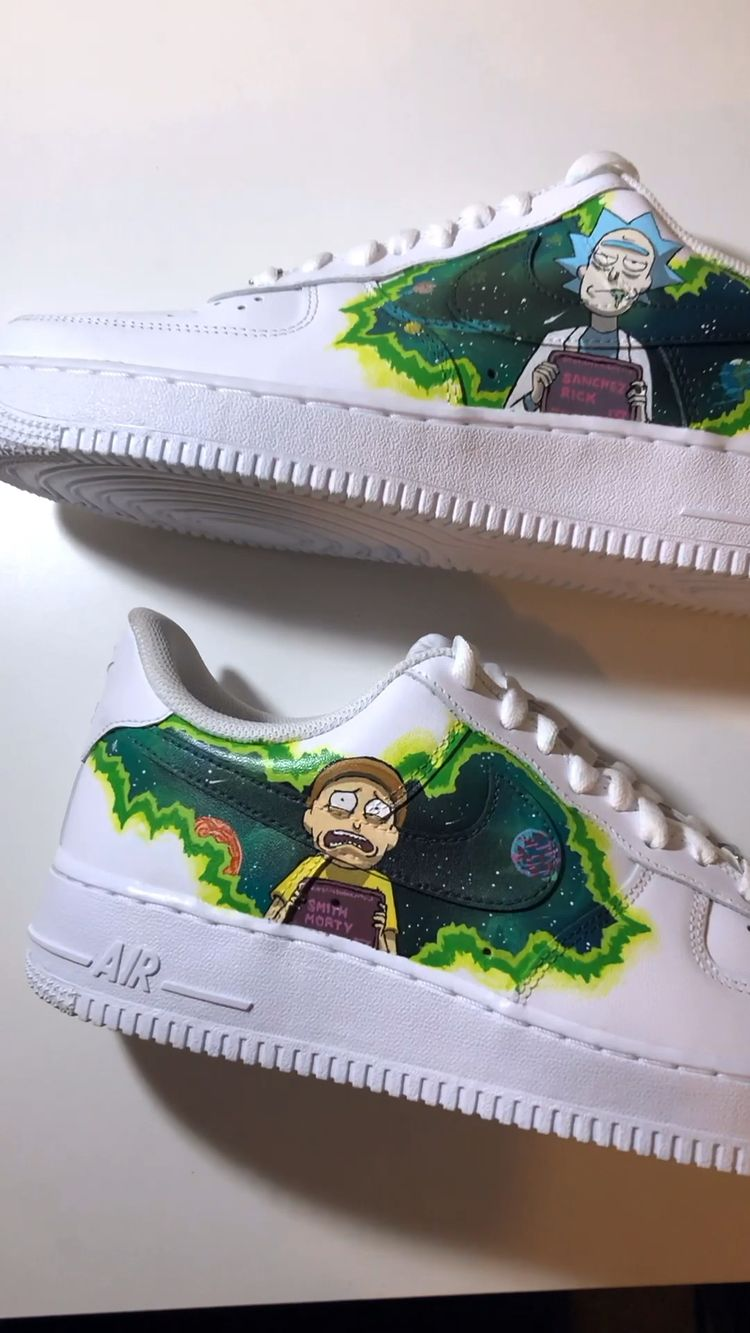 Custom painted Rick and Morty AF1