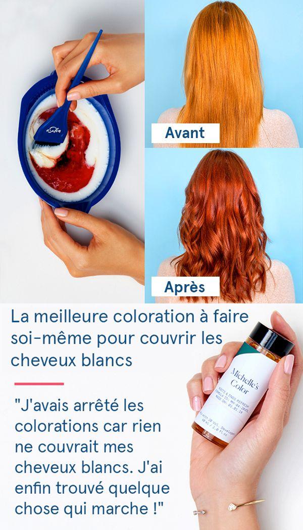 """La solution simple pour colorer les cheveux blancs : """"J'adore... Cela m'a permis d'économiser pas mal d'argent. C'est très facile à utiliser et le résultat est à chaque fois superbe. Tout le monde aime."""""""