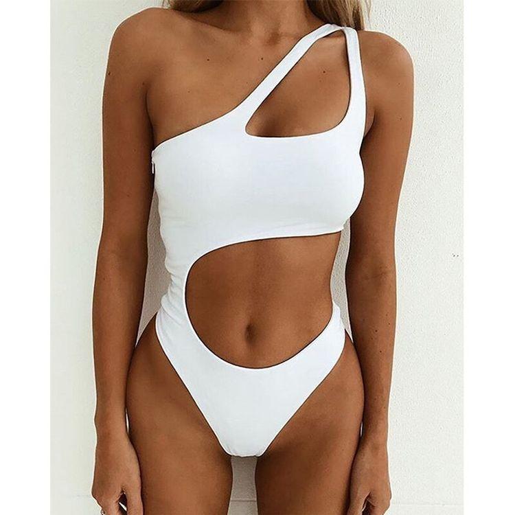 2019 Sexy One Piece Swimsuit Push Up Swimwear Women Monokini Bodysuit Cut Out Swim Suit Female Bathing Suit Summer Beach Wear