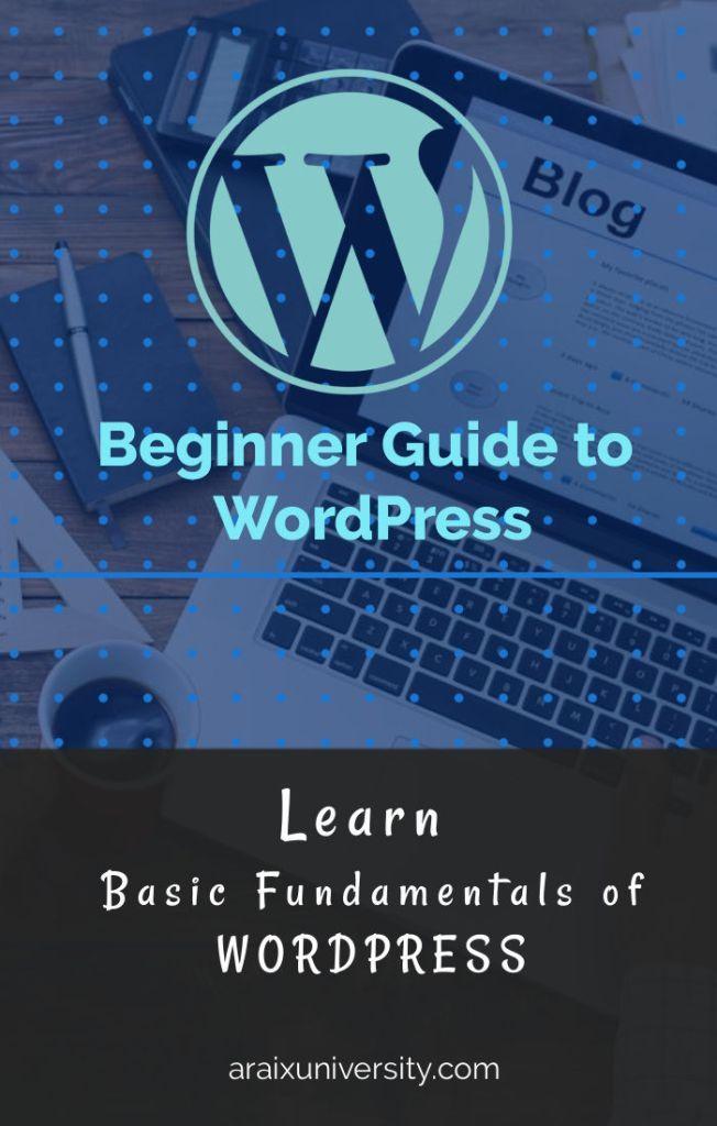 Beginner Guide to WordPress | Araix University