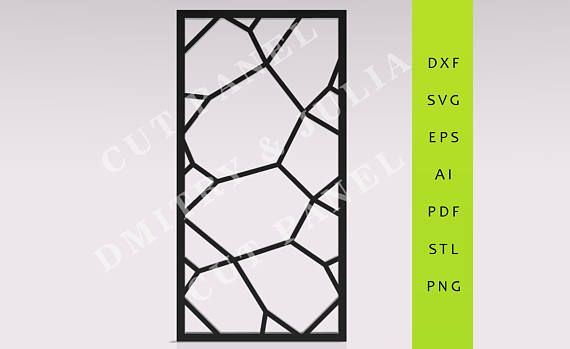 Hanug - Privacy screen DXF/SVG/EPS Ready to Cut File  Cnc t