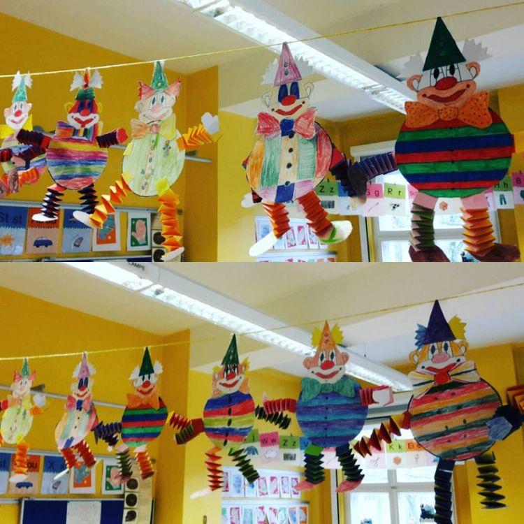 Kunst Grundschule Art Februar February Fasching Clow