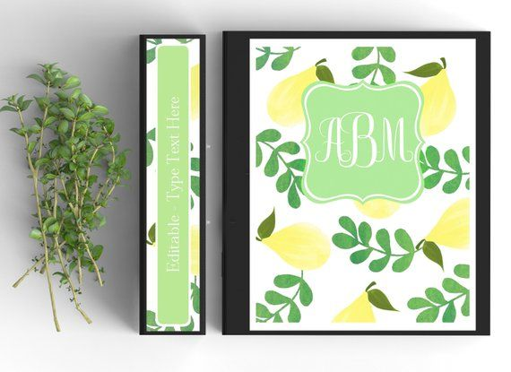 when life gives you lemons binder cover personalized binder inserts and spines 85x11in
