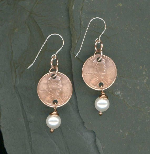 20th Birthday Gift Ideas For Her Handmade 1998 Penny Earrings Anniversary Swarovski Crysta