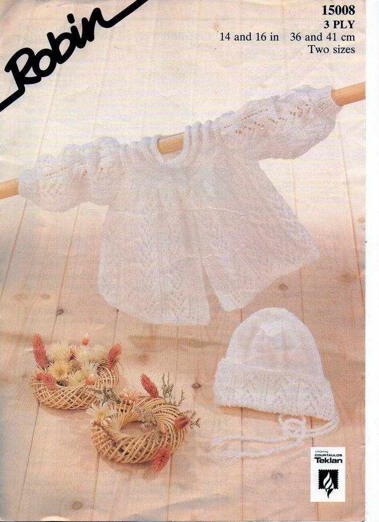 ea35070c6784 baby knitting pattern pdf 3ply baby matinee coat   bonnet m