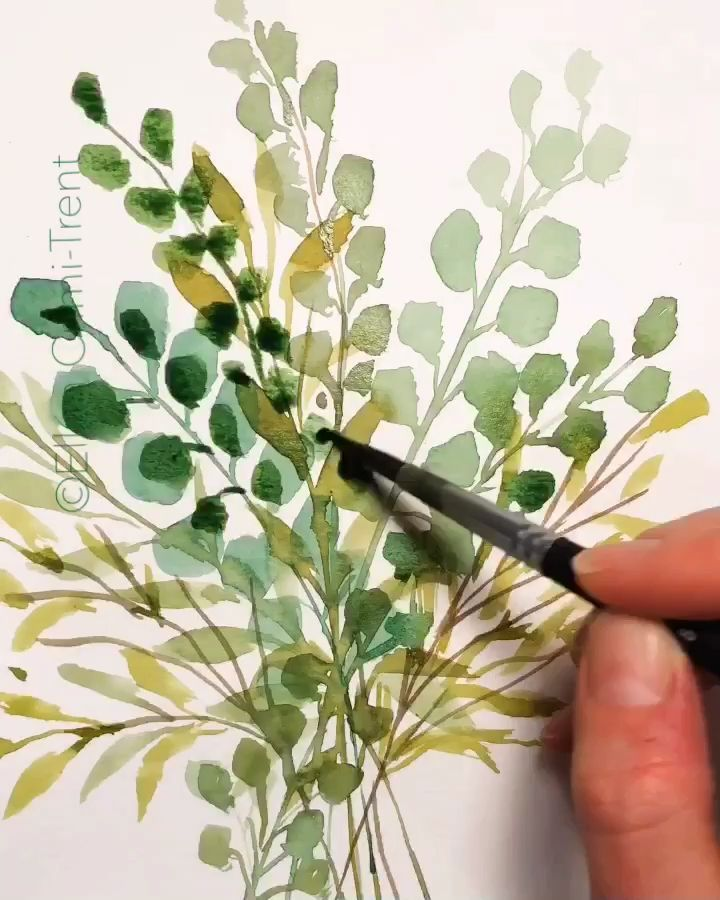 Time lapse video of me painting eucalyptus & leaves #eucalyptus #watercolor #watercolorarts #leaves #botanical #boho #farmhouse #homedecor #wallart #art #artwork