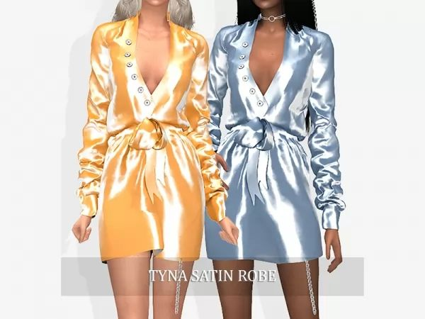 1c09f7242e0 Tyna Satin Robe - The Sims 4 Download - SimsDomination