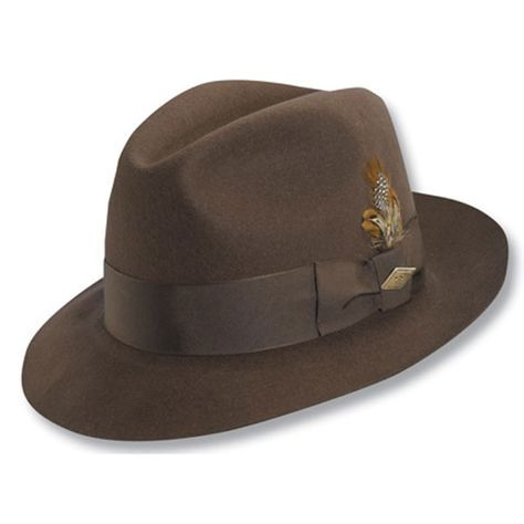 682349c1269 Stacy Adams Greenwich - Wool Fedora Hat