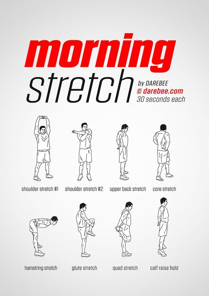 Étirement du matin #fitness #workout #darebee #wednesdaymotivation #thestraightrevi ... - Fitness