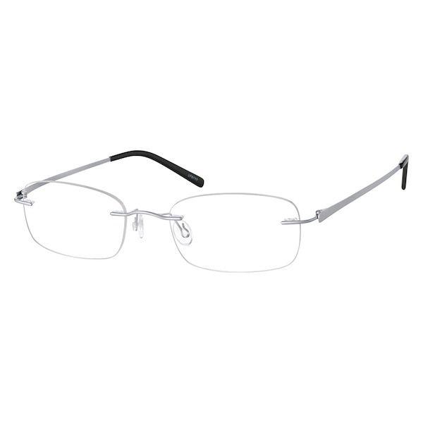 7c8fcbf3bb Zenni Lightweight Rimless Prescription Eyeglasses Silver Titanium 378111